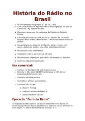 História do Rádio no Brasil (resumo.doc