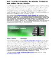 www.hmchosting.com  --  Quality web hosting Rio Rancho provider in New Mexico.docx
